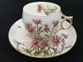 CAREWORN Early George Jones Cup & saucer 1884